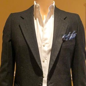 Yves Saint Laurent Slim Fit Pinstripe Blazer 38R
